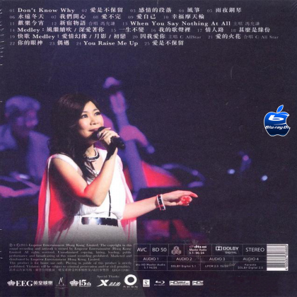 BLURAY Chinese Concert 林志美音乐会 2015 Timeless Samantha Live 2015