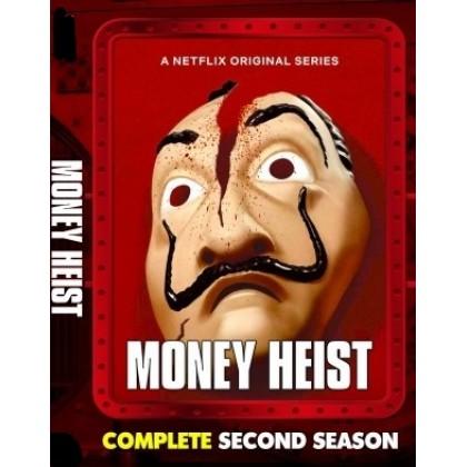 DVD French Movie TV Series Money Heist Complete Second Season 6 Episode (2 Disc)